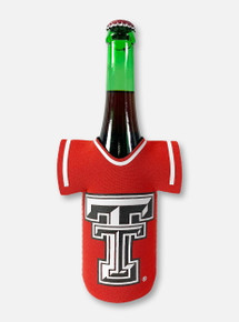 Texas Tech Red Raiders Black and White Double T Jersey Bottle Cooler