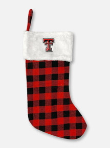 Texas Tech Buffalo Plaid Double T Stocking