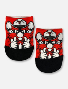 Texas Tech Red Raiders Double T Raider Red YOUTH Low-Cut Socks