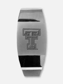 Texas Tech Red Raiders Double T Polished Silver Metal Money Clip