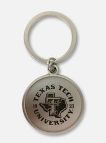 Texas Tech Red Raiders Double T Pride Seal Round Keychain