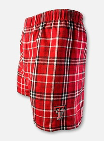 Texas Tech Red Raiders Double T Plaid Flannel Boxers