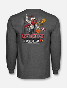 "Texas Tech vs. Louisville ""Battle for the Big Apple"" Grey Long Sleeve T-Shirt"