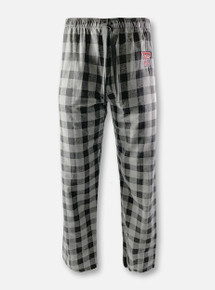 "Texas Tech Red Raiders Double T ""Buff"" Black Plaid Flannel Pajama Pants"
