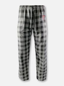 "Texas Tech Red Raiders Double T ""Buff"" Black Plaid Flannel Pajama Pants"