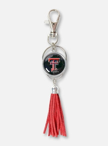 Texas Tech Red Raiders Double T Red Tassel Keychain