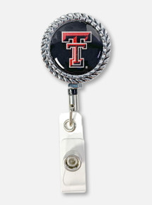 Texas Tech Red Raiders Double T Round Rope Edge Badge Reel