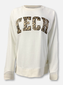 Pressbox Texas Tech Red Raiders Classic Arch In Cheetah French Terry Sweatshirt