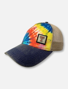 "Legacy Texas Tech Red Raiders Double T ""The Offset"" Rainbow Tie-Dye Snapback Cap"