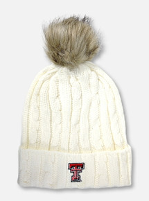 "Texas Tech Red Raiders Double T ""Alps"" Cuff Knit Beanie with Pom"