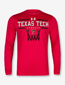 "Under Armour Texas Tech Red Raiders Double T Basketball ""Hoop It Up"" Long Sleeve T-Shirt"