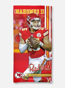 Texas Tech Red Raiders Kansas City Chiefs Spectra Beach Towel Featuring Patrick Mahomes II(PREORDER SHIPS 1/28/2020)