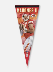 Texas Tech Red Raiders Kansas City Chiefs Premium Pennant Featuring Patrick Mahomes II (PREORDER SHIPS 1/28/2020)