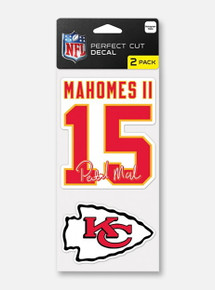 Texas Tech Red Raiders Kansas City Chiefs Decal Set Featuring Patrick Mahomes II