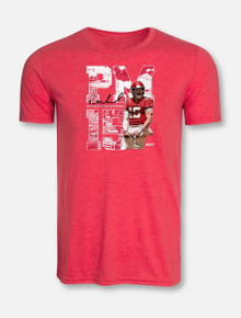 "Texas Tech Red Raiders ""Flex"" T-Shirt In Red Featuring Patrick Mahomes II"