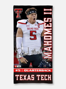 Texas Tech Red Raiders Patrick Mahomes II Spectra Beach Towel