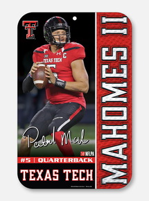 Texas Tech Red Raiders Patrick Mahomes II Sign