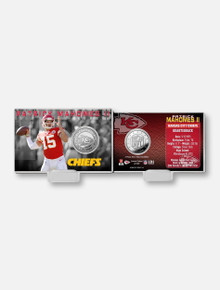 Texas Tech Red Raiders Highland Mint Kansas City Chiefs Patrick Mahomes II Silver Coin Card