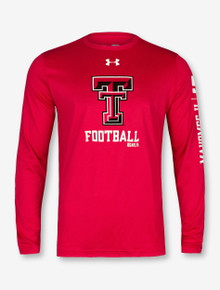 "Under Armour Texas Tech Red Raiders Mahomes  ""MVP"" Long Sleeve T-Shirt In Red"