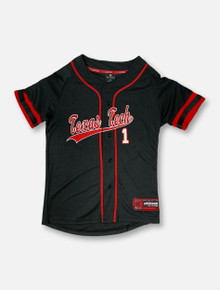 "Arena Texas Tech Red Raiders Double T ""Bam-Bam"" YOUTH Baseball Jersey"