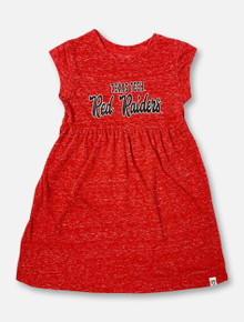 """Arena Texas Tech Red Raiders """"Gwen"""" TODDLER GIRLS Dress In Heathered Red"""