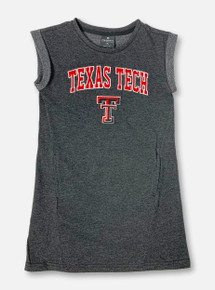 "Arena Texas Tech Red Raiders Double T ""Betty"" YOUTH Tank Dress In Dark Charcoal"