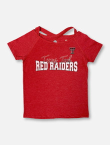 "Arena Texas Tech Red Raiders Double T ""Zaza"" YOUTH GIRLS Crossover T-Shirt"