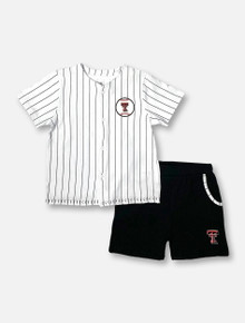 """Arena Texas Tech Red Raiders Double T  """"Barney Baseball"""" TODDLER Shirt And Shorts Set"""