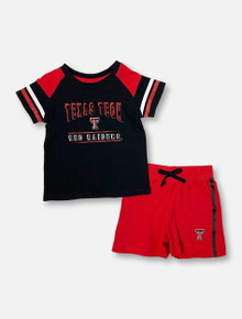 """Arena Texas Tech Red Raiders Double T """"Grand Poobah"""" INFANT Shirt And Shorts Set"""