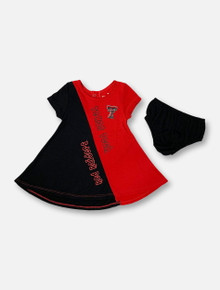 "Arena Texas Tech Red Raiders Double T ""Great Gazoo"" INFANT GIRLS Dress And Bloomers Set"