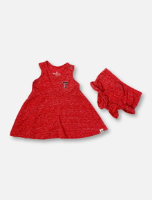 "Arena Texas Tech Red Raiders Double T ""Snorkasaurus"" INFANT GIRLS Tank Dress And Bloomers Set"
