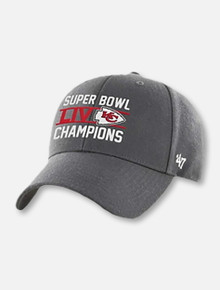 47 Brand Texas Tech Red Raiders Kansas City Chiefs Super Bowl LIV Champions MVP Adjustable Grey Cap