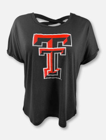 """Arena Texas Tech Red Raiders Double T """"Lucy"""" Boxy T-Shirt With Crossover Back"""