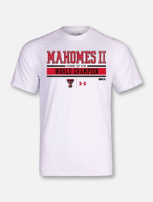"Under Armour Texas Tech Red Raiders Mahomes ""Set The Bar"" White Short Sleeve T-Shirt"