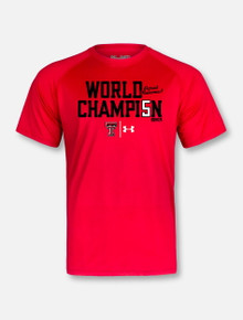 "Under Armour Texas Tech Red Raiders Mahomes ""World Champ 5"" Red Short Sleeve T-Shirt"