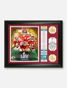 "Highland Mint Texas Tech Red Raiders Kansas City Chiefs Super Bowl LIV Campions 2 Coin ""Banner"" Photo Mint Frame"