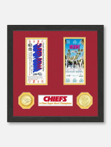 Highland Mint Texas Tech Red Raiders Kansas City Chiefs Super Bowl LIV Champions Replica Ticket Collection Photo Mint Frame
