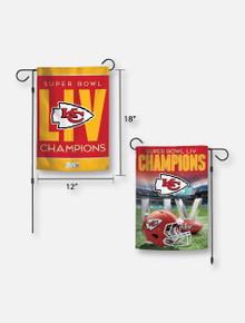 Texas Tech Red Raiders Kansas City Chiefs Super Bowl LIV Champions Two-Sided Garden Flag