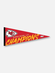 Texas Tech Red Raiders Kansas City Chiefs Super Bowl LIV Champions 12X30 Classic Pennant