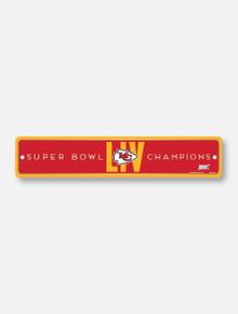 Texas Tech Red Raiders Kansas City Chiefs Super Bowl LIV Champions Street Sign