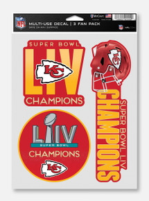 Texas Tech Red Raiders Kansas City Chiefs Super Bowl LIV Champions Multi-Use Decal