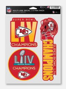Texas Tech Red Raiders Kansas City Chiefs Super Bowl LIV Champions Multi-Use Decal