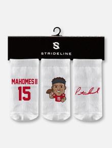 Texas Tech Red Raiders Kansas City Chiefs Patrick Mahomes Three-Pack INFANT Socks