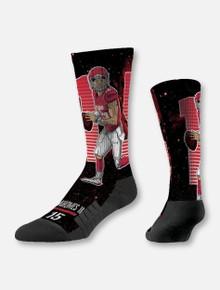 """Texas Tech Red Raiders Kansas City Chiefs Patrick Mahomes #15 """"Galaxy"""" Socks"""