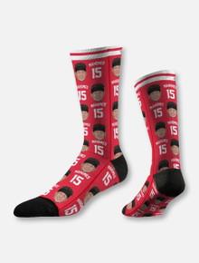 """Texas Tech Red Raiders Kansas City Chiefs Patrick Mahomes  """"Repeating Logo"""" Socks"""