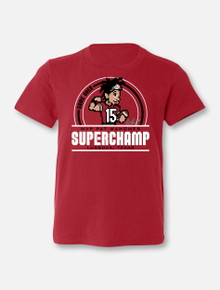 "Texas Tech Red Raiders Patrick Mahomes MVP ""Superchamp"" YOUTH T-Shirt In Red"