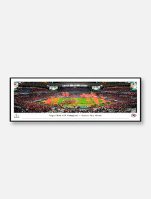 Texas Tech Red Raiders Kansas City Chiefs 2020 Super Bowl LIV Panoramic Poster in Frame (Drop-Ship Only, Allow 2-3 Business Days For Delivery)
