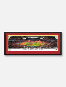 Texas Tech Red Raiders Kansas City Chiefs 2020 Super Bowl LIV Panoramic Poster in Deluxe, Double-Mat Frame (Drop-Ship Only, Allow 2-3 Business Days For Delivery)