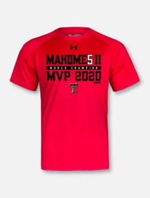 """Under Armour Texas Tech Red Raiders """"Mahomes Comeback Kid"""" T-Shirt In Red"""