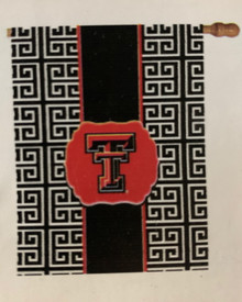 "Texas Tech Red Raiders ""Greek Key"" Flag"